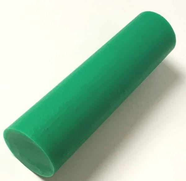 Kunststoffrundstange aus PE1000 ( PE-UHMW) grün extrudiert