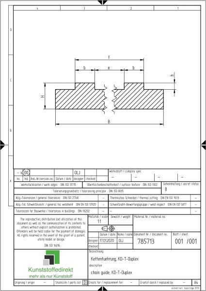 Kettenführung Typ KD-T-Duplex