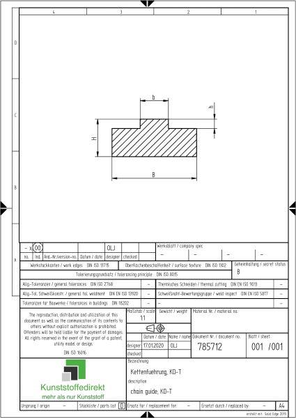 Kettenführung Typ KD-T-Simplex