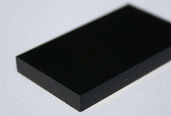 Kunststoffplatte aus PET schwarz